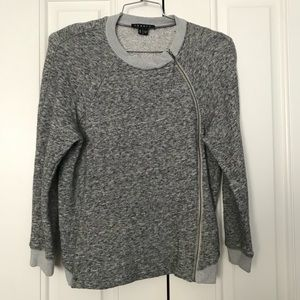Theory Sonan zip up cardigan sweater Asymmetrical